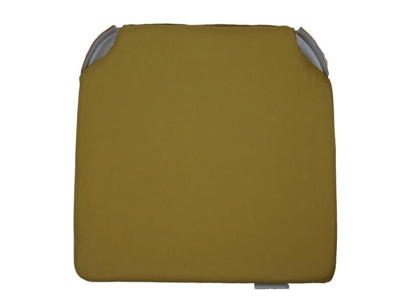 Stoelkussen 40x40 cm honey gold