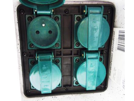 StoneDecor bloc multiprise 4x avec câble 10m blanc