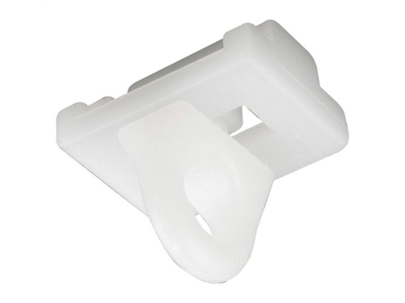 Stopper gordijnrails 20mm wit 4 stuks