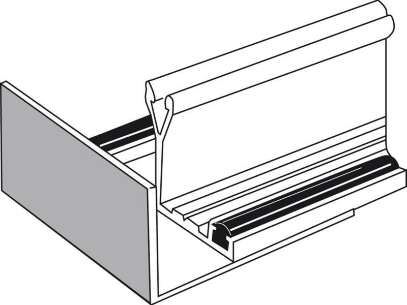 Scala Stopprofiel 55mm aluminium