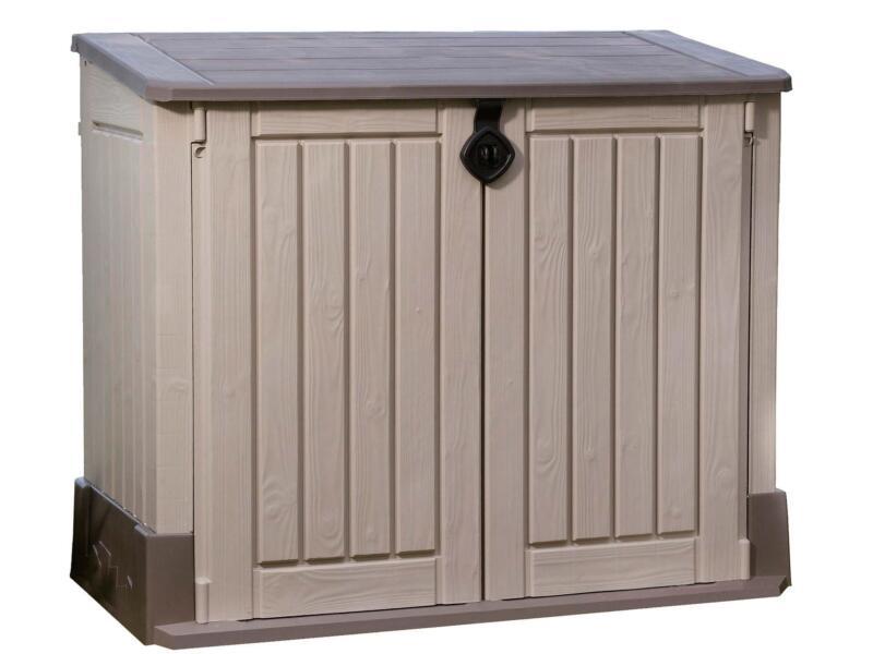 économiser 052a6 7b9e5 Keter Store It Out Midi rangement extérieur 134x74x110 cm beige | Hubo