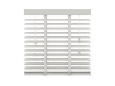Decosol Store vénitien bois 50mm 140x180 cm 50mm blanc