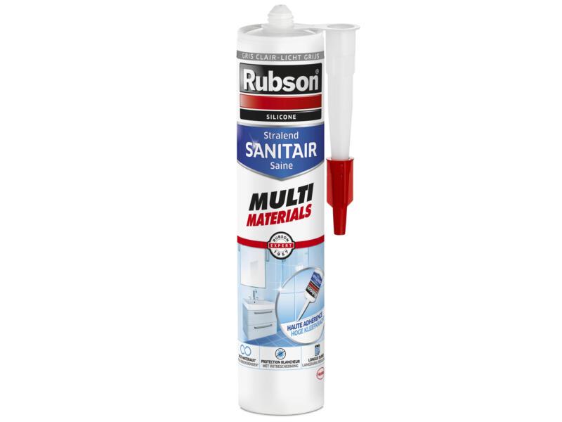 Rubson Stralend Sanitair siliconenkit multi materials 280ml lichtgrijs