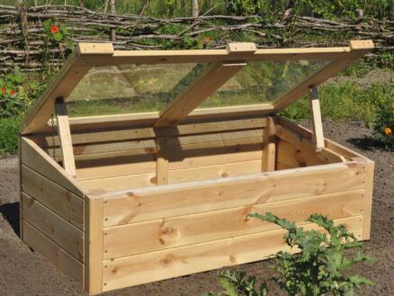 Royal well Strawberry Queen kweekserre veiligheidsglas hout