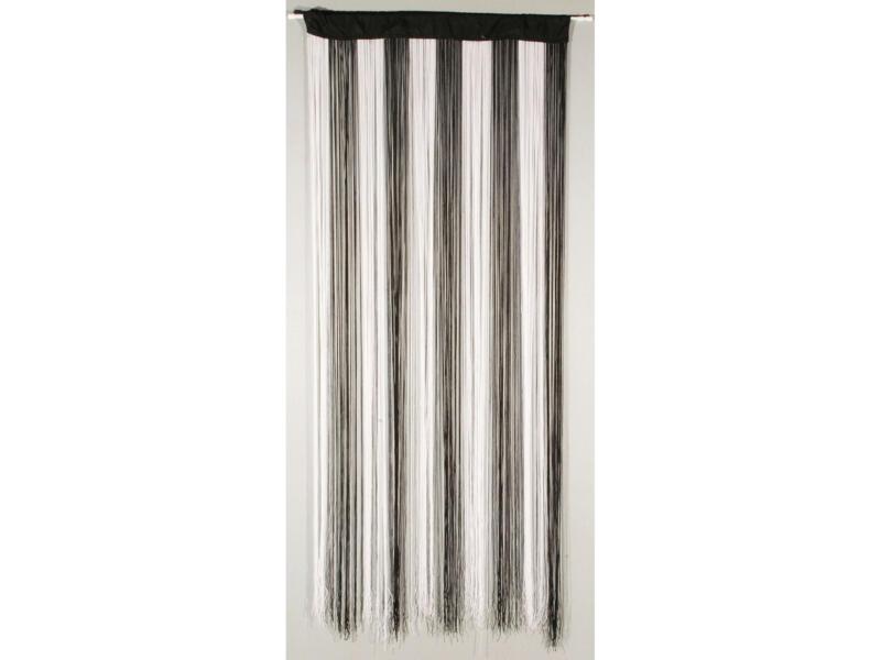 Confortex String rideau de porte 90x200 cm noir et blanc