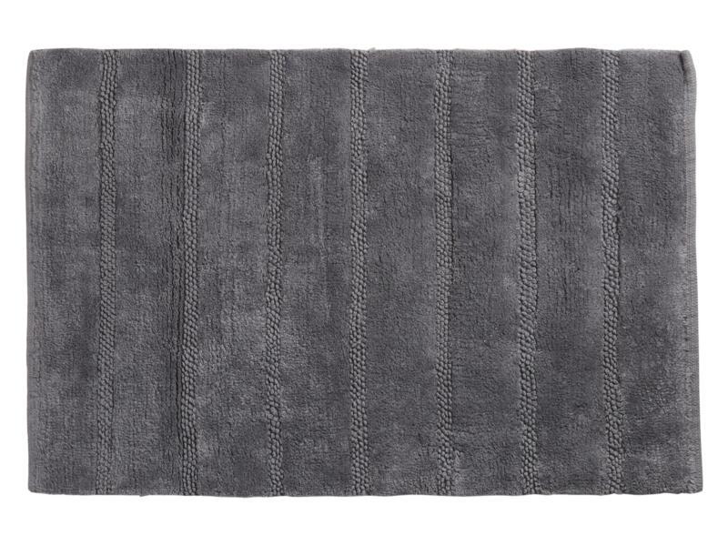 Differnz Stripes tapis de bain 75x45 cm gris