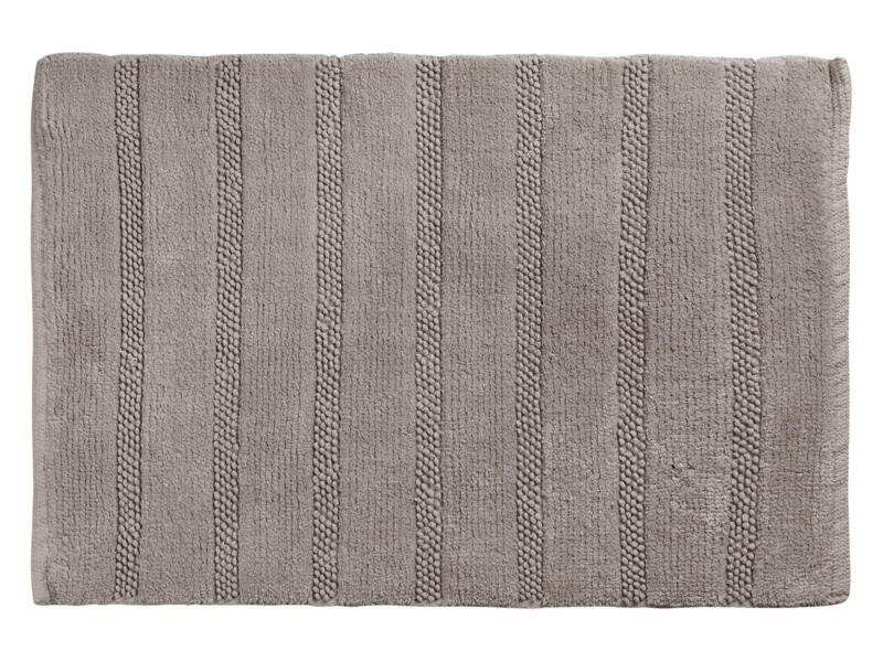 Differnz Stripes tapis de bain 75x45 cm taupe