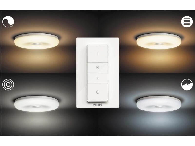 Philips Hue Struana plafonnier LED 32W dimmable + télécommande blanc