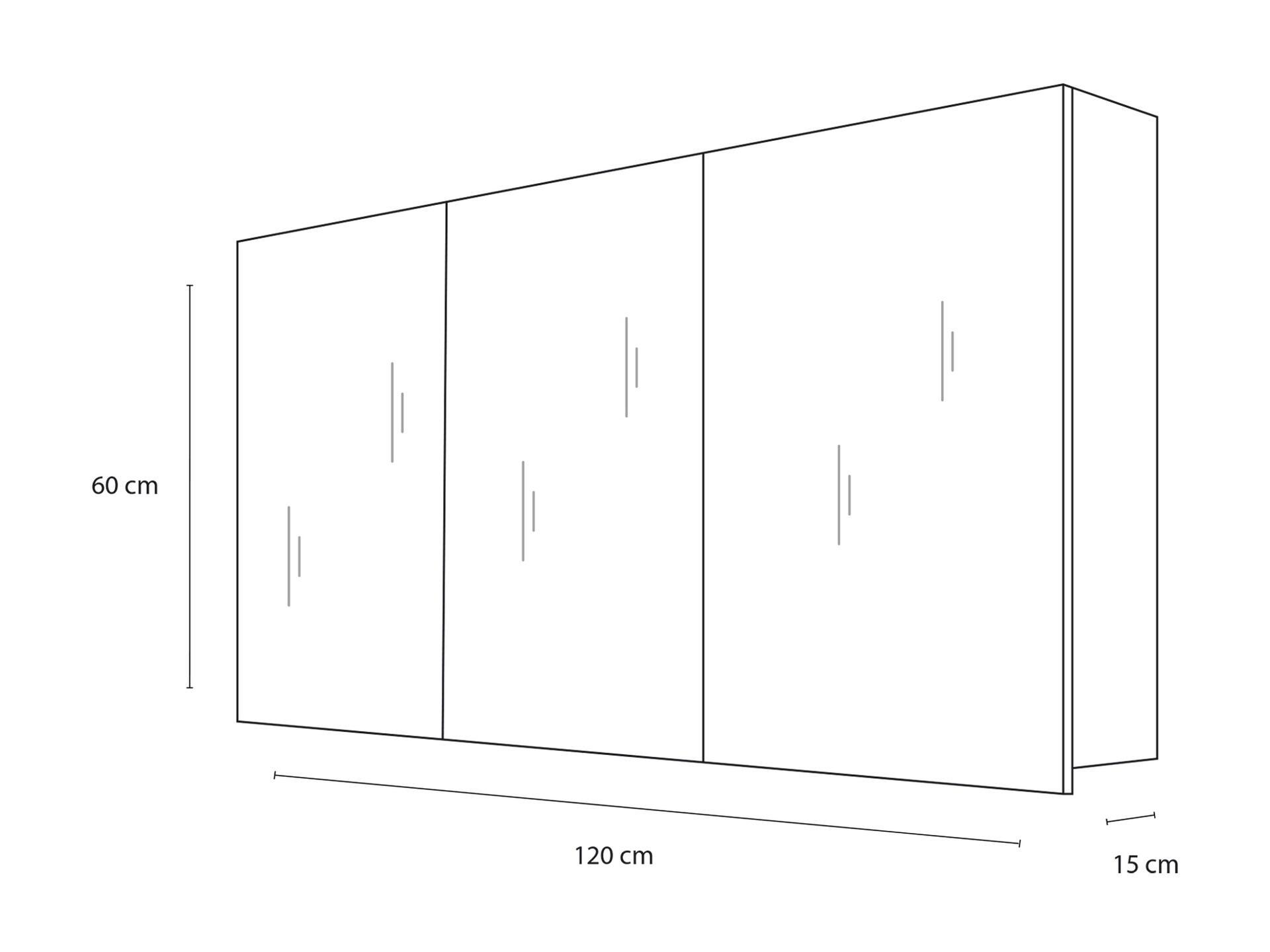 Hauteur Armoire De Toilette style armoire de toilette 120cm 3 portes miroir chêne noir