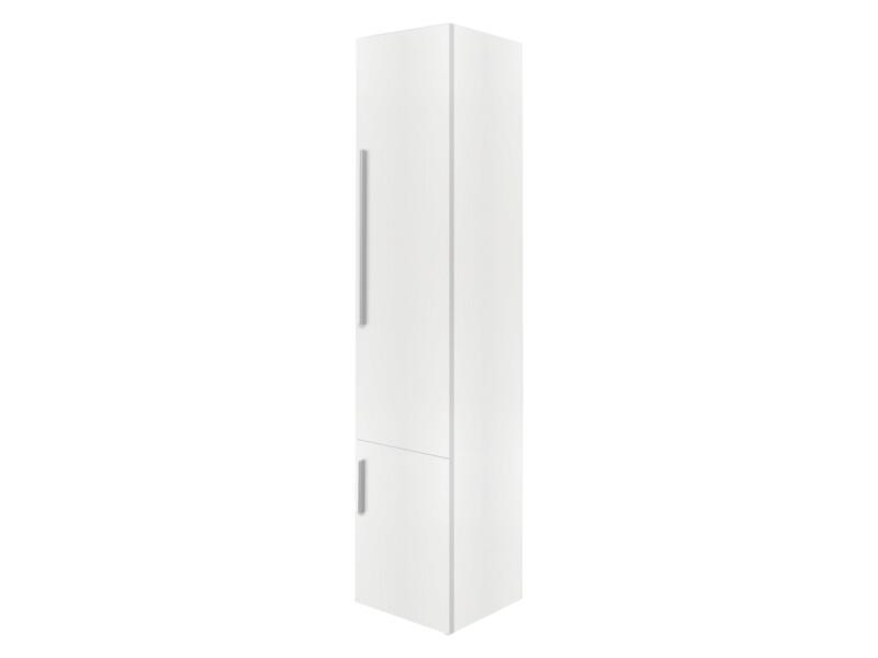 Style meuble colonne 35cm 2 portes ouvrant droit blanc mat