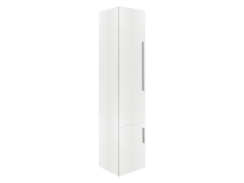 Style meuble colonne 35cm 2 portes ouvrant gauche blanc mat