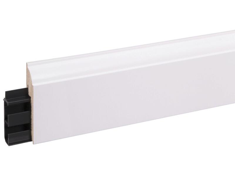 CanDo Style plinthe pour câbles 80x19 mm 240cm blanc
