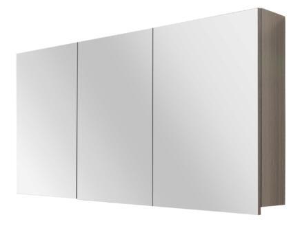 Style spiegelkast 120cm 3 deuren grijze eik