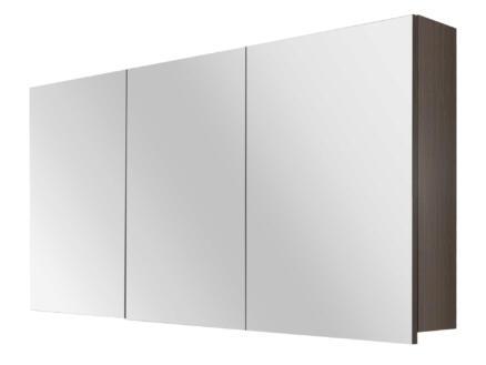 Style spiegelkast 120cm 3 deuren zwarte eik