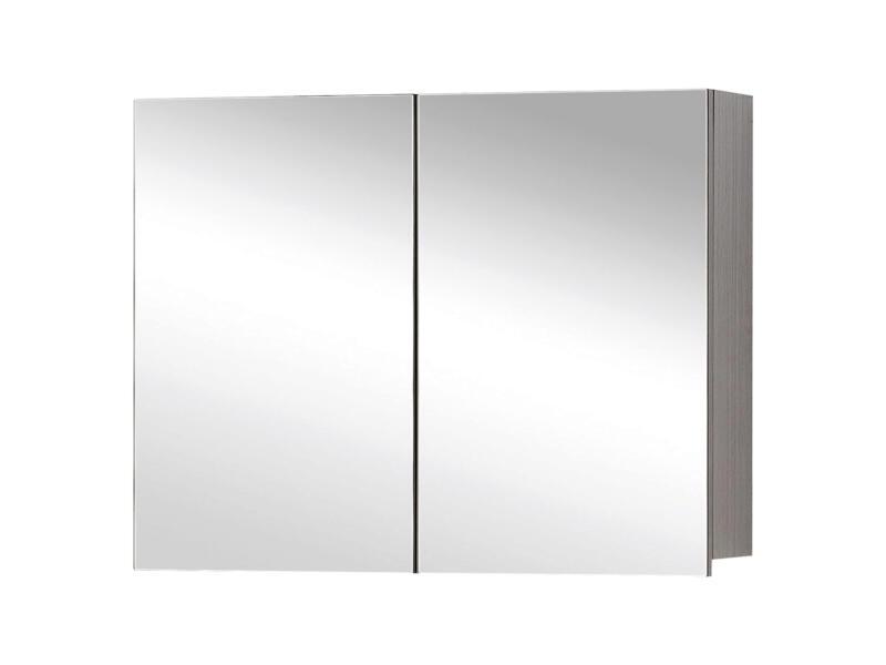 Style spiegelkast 60cm 2 deuren grijze eik