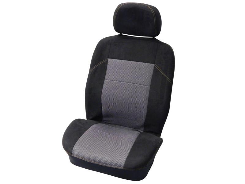 Carpoint Suede housse de siège auto noir/gris 4 pièces
