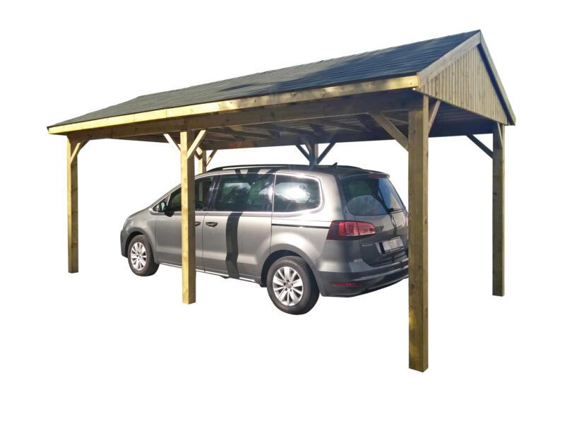 Suisse carport 300x600 cm bois