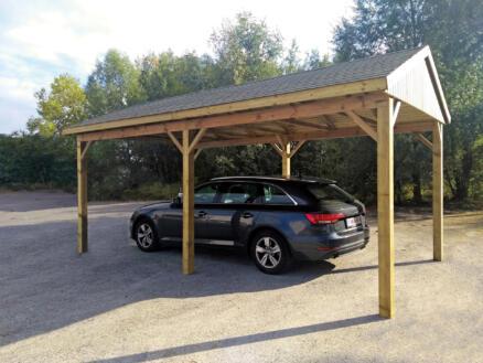 Suisse carport 300x600 cm hout