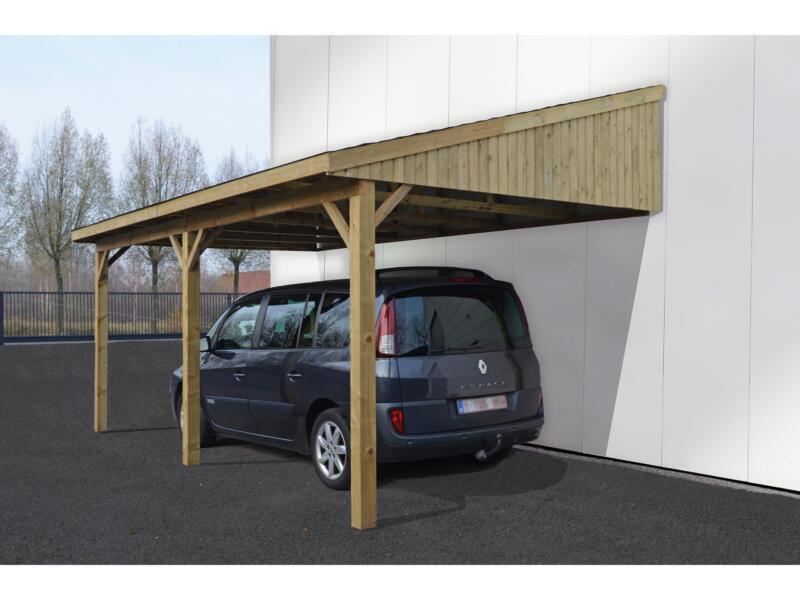 Suisse carport aanbouw 350x600 cm hout