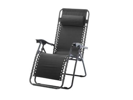 Sunday relax ligstoel zwart