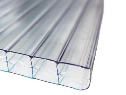 Scala Sunlite plaque de polycarbonate à parois multiples 200x98 cm 16mm transparent