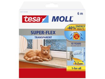 Tesa Super-Flex tochtstrip 6m 0,9cm transparant