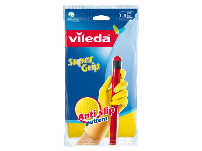 Vileda Super Grip gants de ménage L latex jaune