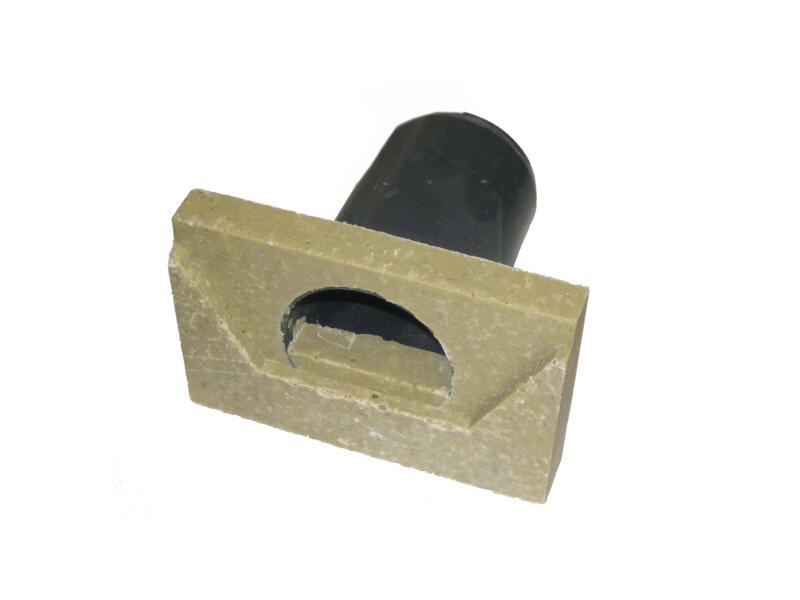 ACO Super Mini eindplaat afvoergeul met uitloop