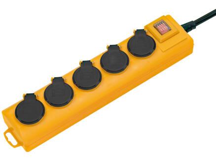 Brennenstuhl Super-Solid bloc multiprise 5x avec interrupteur et câble 2m jaune