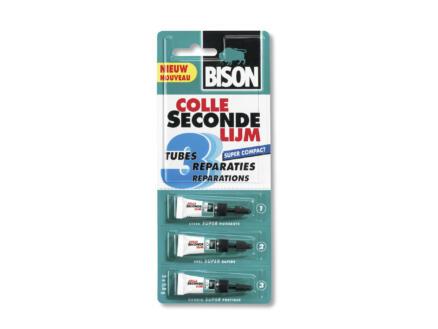Bison Super secondelijm 3x0,8 g transparant