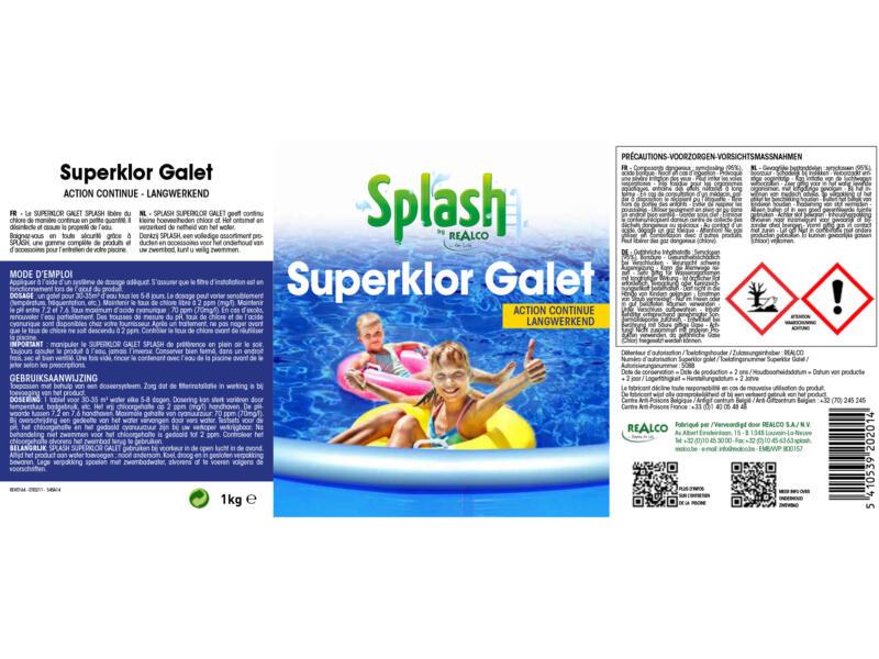 Splash Superklor Galet tablettes de chlore 1kg
