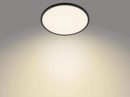 Philips Superslim plafonnier LED 18W dimmable noir