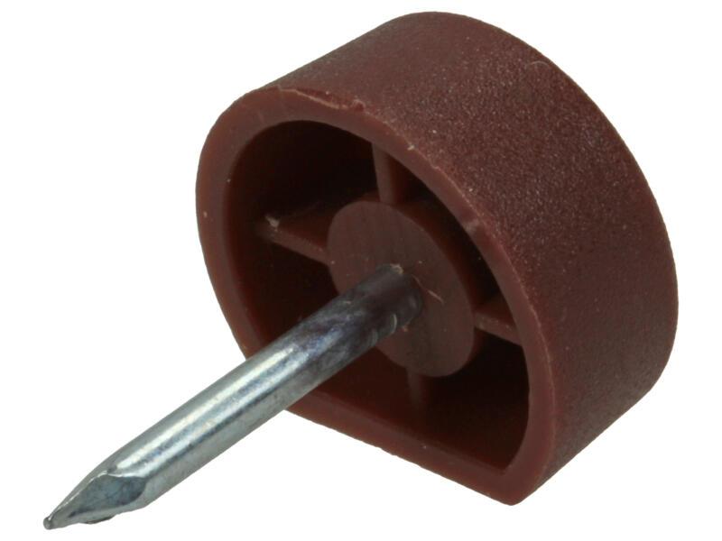 Support avec clou 10mm brun 50 pièces