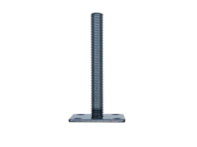 Support de fixation au sol pour poteau 65mm invisible