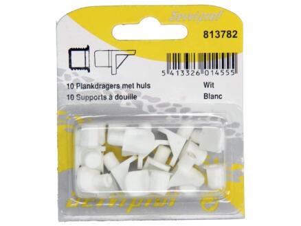Support de planches avec douille blanc 10 pièces