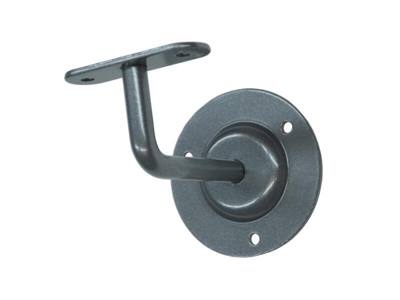 Support de rampe d'escalier laqué gris