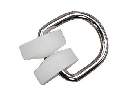 T-looprol gordijnrails AVR4 wit 20 stuks