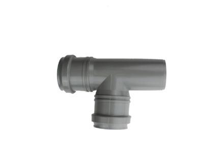 Scala T-stuk 87° MFF 50mm polypropyleen grijs