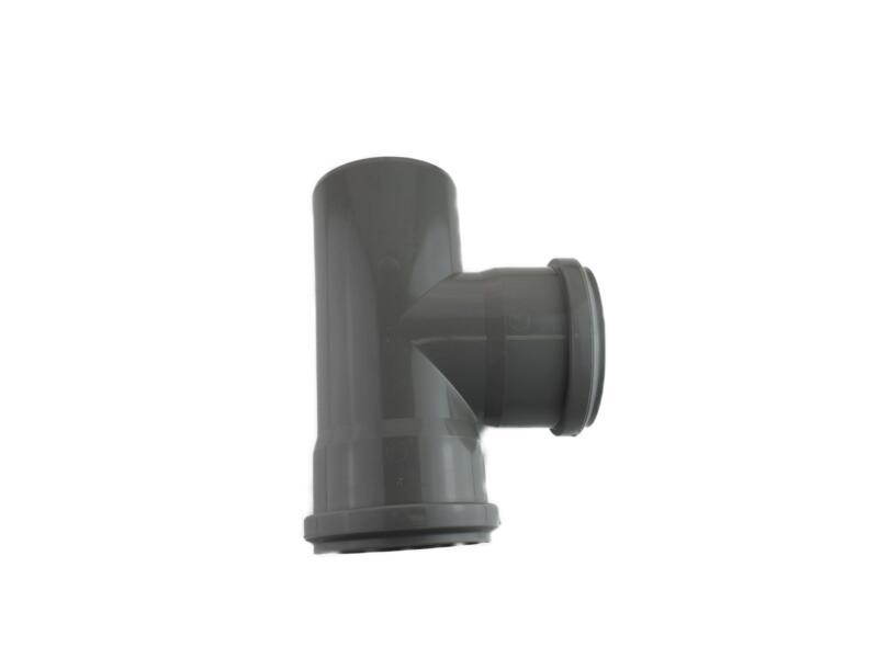 Scala T-stuk 87° MFF 90mm polypropyleen grijs