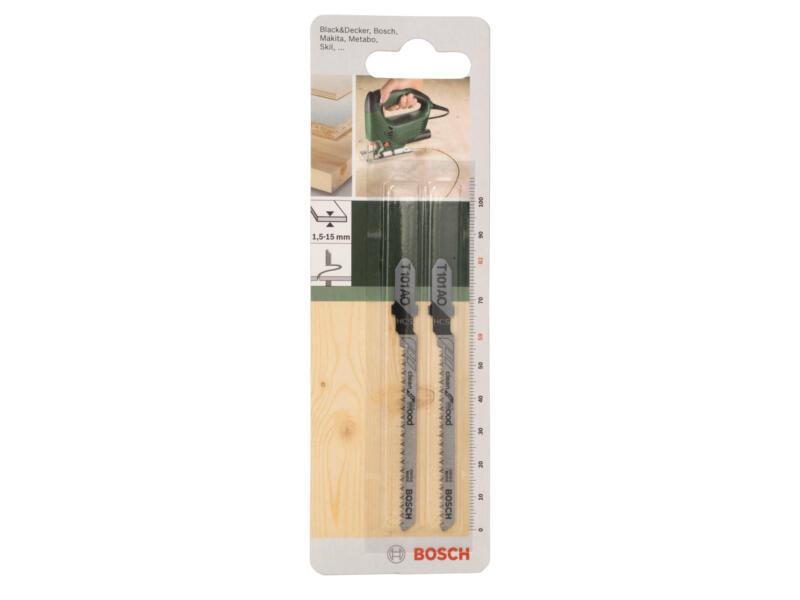 Bosch T101AO lame de scie sauteuse HCS 82mm bois 2 pièces