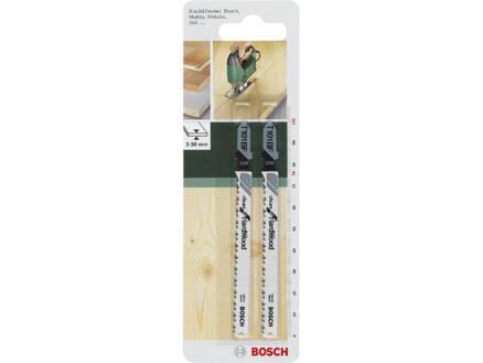 Bosch T101BF decoupeerzaagblad BIM 100mm hardhout 2 stuks