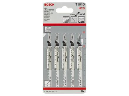 Bosch Professional T101D lame de scie sauteuse HCS 100mm bois 5 pièces