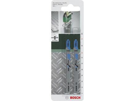 Bosch T118A decoupeerzaagblad HSS 91mm metaal 2 stuks