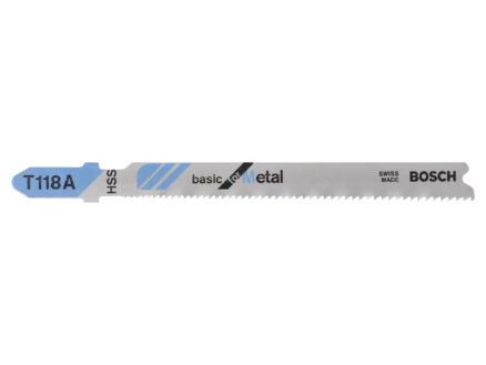 Bosch T118A lame de scie sauteuse HSS 91mm métal 2 pièces
