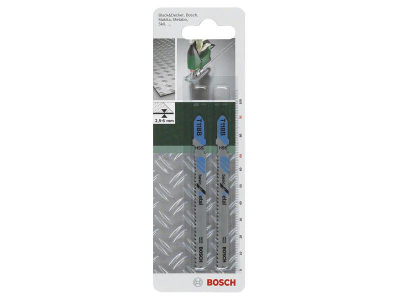 Bosch T118B decoupeerzaagblad HSS 91mm metaal 2 stuks