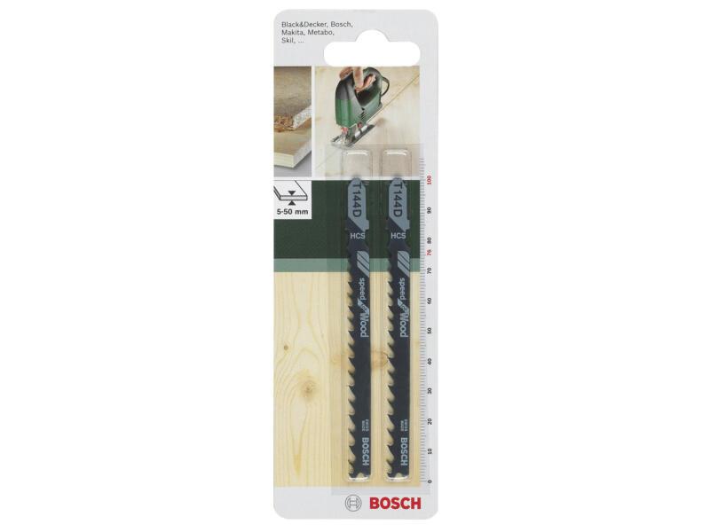 Bosch T144D lame de scie sauteuse HCS 100mm bois 2 pièces