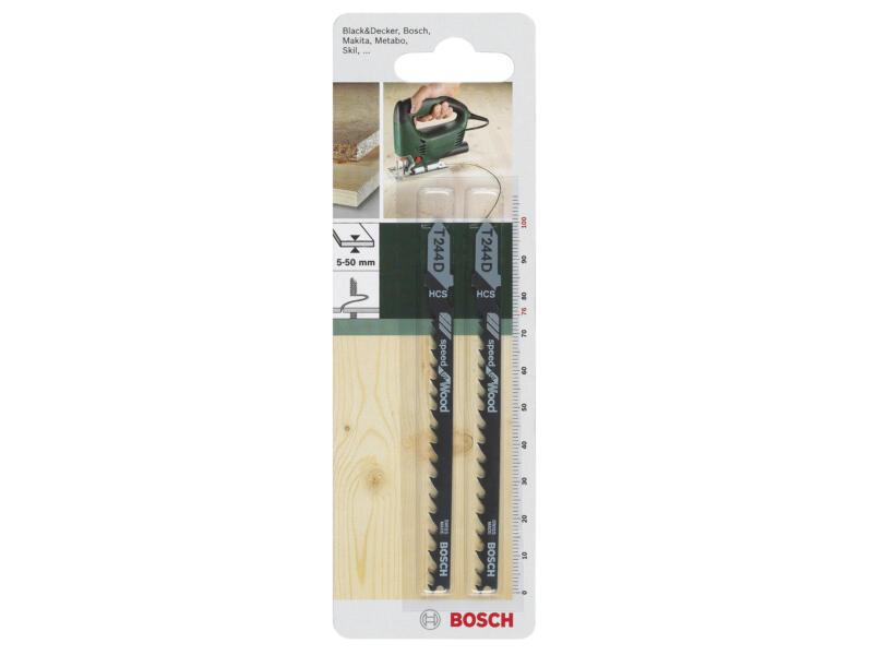 Bosch T244D decoupeerzaagblad HCS 100mm hout 2 stuks