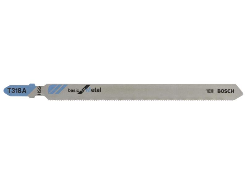 Bosch Professional T318A lame de scie sauteuse HCS 132mm métal 5 pièces