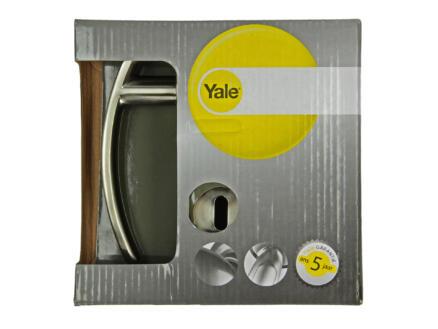 Yale Tabbo BB deurklinkset op rozet 52mm mat vernikkeld