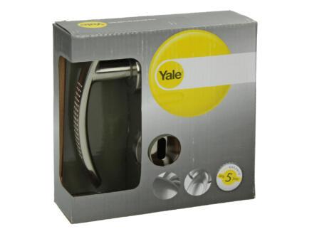 Yale Tabbo BB poignée de porte avec rosaces 52mm set complet nickelé mat